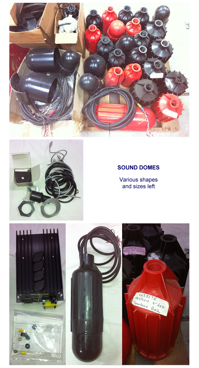 Sound Domes - various shapes and sizes left